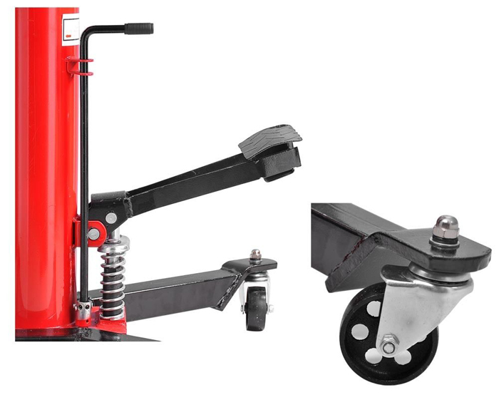 Pompe double Jack-Foot à transmission de 0,5 tonne